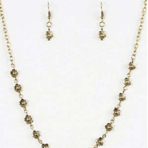 DAISY DO SI DO BRASS NECKLACE/EARRING SET
